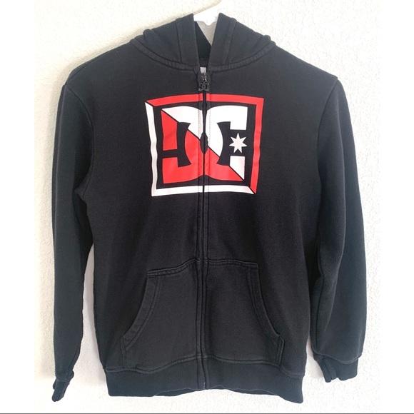 DC Other - DC black & red zip up hoodie Junior size Medium M